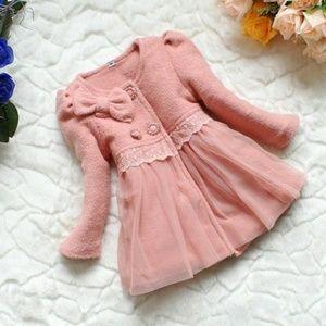 Pink kids winter coat